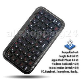 BLUETOOTH TASTATUR fuer Handy Smartphone IPhone 4 Nokia PS3 Samsung