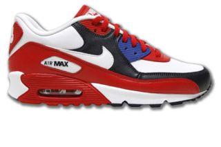 Nike Air Max 90 Neu Rot/Weiss Glattleder Größen wählbar