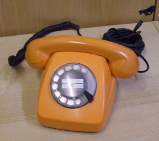 Telefon Orange Siemens Post FeTAp 611 2a BP 78 09 70er Jahre