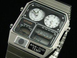 Neu Citizen Ana Digi Temp Dual Time Watch JG2000 59F