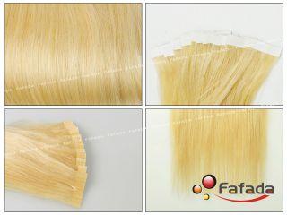 20 Tape Echthaar Human Hair Extensions 613# 50cm 50g