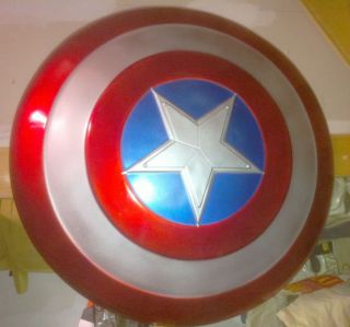 AVENGERS 2012 CAPTAIN AMERICA ADULT 24 INCH MOVIE SHIELD PROP LICENSED