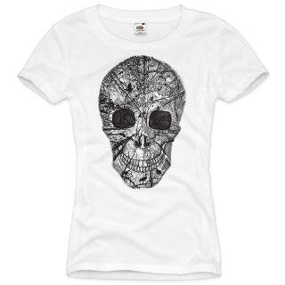 Vintage Skull T Shirt Totenkopf rocker club biker heavy horror XS S M