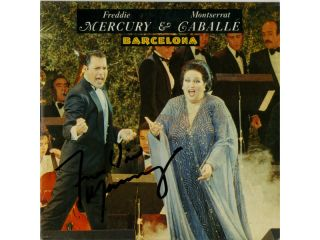 QUEEN   FREDDIE MERCURY  CD SINGLE   BARCELONA   SIGNED 1987