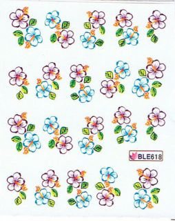 Nail Art Sticker Tattoo One Stroke BLE 618