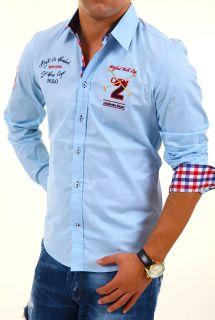 CARISMA Slim Fit Polo Hemd Shirt Kontrast Party Club 4 FARBEN CLUBWEAR