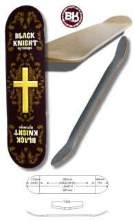 Skateboard BLACK KNIGHT grafik deck the cross 7,625