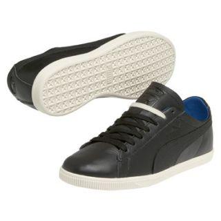 Puma Glyde Leather Low Herren Leder Retro Schuhe Sneaker Black Schwarz