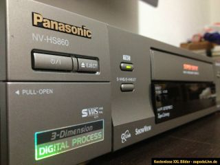 Panasonic NV HS860 S VHS S VHS ET SUPER VHS Video Recorder ShowView 1A