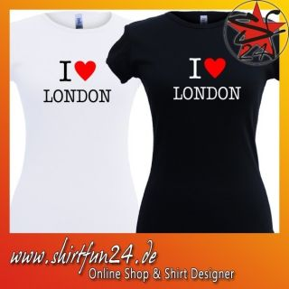 love London Girlie T Shirt Damenshirt NY New York