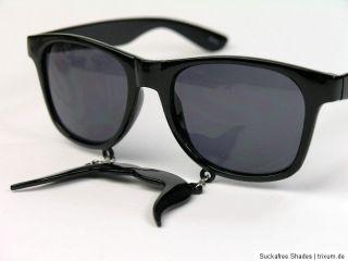 Hipster Sunglasses Mexican Mustache Party Sonnenbrille Wayfarer