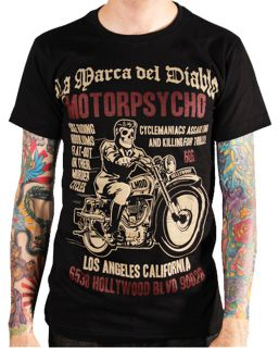 [MOTORPSYCHO] T SHIRT ROCKABILLY HOT ROD BIKER MOTO ROCK 666