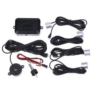 NEW 4 Parking Sensors Car Parking Reverse Backup Radar Sound Alert