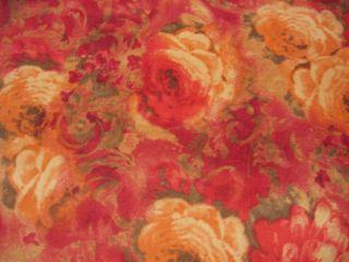 Stretch Cord Feincord Blumen Rot Landhausstil Stoff 652