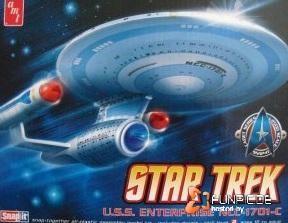 Modellbausatz USS Enterprise 1701 C 12500 AMT 661 Snap it STAR TREK