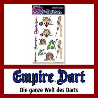 EMPIRE Dart Darts Sport Tattoos, Tattoo 11 tlg. 20L667