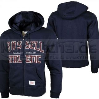 Russell Athletic Zip Through Hooded Sweat Navy