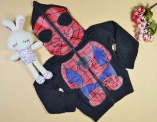 Kinder Jungen Spiderman Jacke Full zip Hoodies Kapuzen Maske