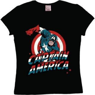 Logoshirt Marvel Captain America Girlie Superhelden T Shirt