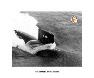 USS L. MENDEL RIVERS SSN 686  Nuclear Attack Submarine , USN Navy