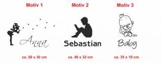 E134 Türaufkleber Kinderzimmer Name Aufkleber Sticker