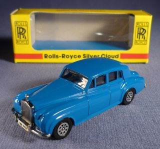 Seerol Rolls Royce Silver Cloud Blau OVP Die Cast Model 1955 1959 alt