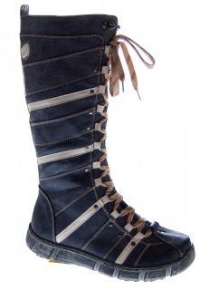 Designer Stiefel Damen Weiß d Blau Schwarz Schuhe gefüttert Winter