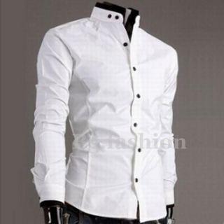UK Top New Mens Luxury Casual Slim Fit Stylish Collar Dress Shirts