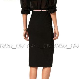 High Waist Pencil Stretch Bandage Knee Length Skirt Sexy Womens