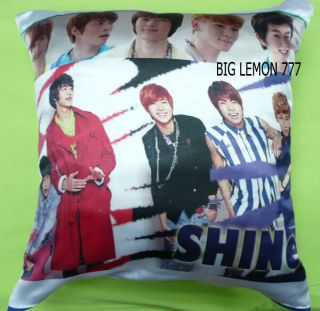 SHINEE Photo Cushion Pillow Cover Pillowcase Satin Q2