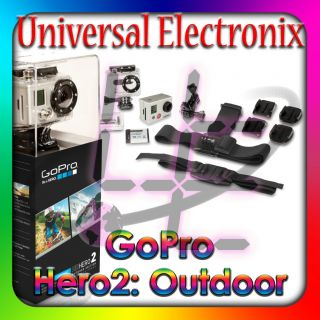 New GoPro HD HERO 2 Outdoor Edition Camcorder Silver 11 MP Water Proof