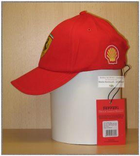 Ferrari Classic Cap rot mit Shell Logo (Official Licensed Product