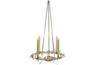 Adventskranz Kerzenhalter Kerzenständer Decke Deckenhänger Metall