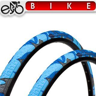 2x Sweetskinz Nightwing Fahrrad Reifen 28 x 1,4 37 622 blau camo