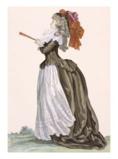 Ladys Promenade Dress, Engraved by Dupin, Plate No.222 Giclee Print by Francois Louis Joseph Watteau