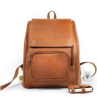 großer Leder Rucksack Modell 711 Cognac Laptop fach   top Qualität