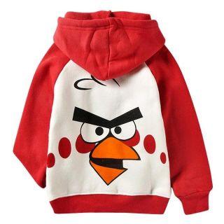 Kinder Jungen Mädchen Angry Birds Kapuzen Pullover SweatShirt Hoodie