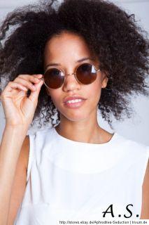 Brille Rund Vintage Sonnenbrille Neu Farbe gold schwarz brauen Unisex