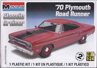 Plymouth Road Runner 1970, Kunststoffbausatz, Modellauto 124 Revell