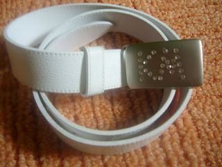 Damen Gürtel Leder Ledergürtel von K. M. mit Svarowski Stein 85 cm