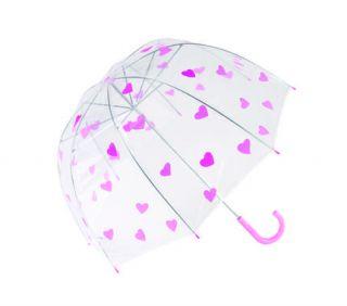 Kinder Regenschirm SCRIBBLE KIDS mit rosa Herzen und Griff