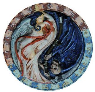 Alchemy Relief Yin Yang Engel und Tod Wandschmuck.8367
