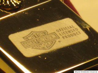 Original ZIPPO Harley Davidson Golden Eagle special lighter in