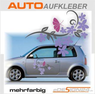 E146 Schmetterling Blume Tribal Aufkleber Auto Sticker
