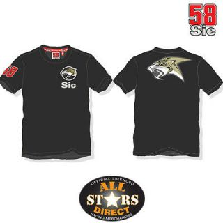 New Official Marco Simoncelli 58 Sic Jaguar T Shirt Black