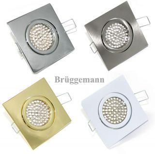 LED Einbaustrahler Set Quadro Edelstahl / Weiß / Gold / Chrom 230Volt