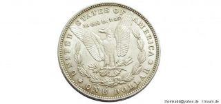 USA Morgan One Silber Dollar Philadelphia 1881  unz, almost