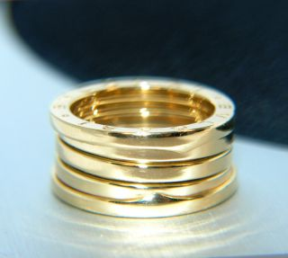 original Bulgari / B Zero Gold RING 750 GOLD 18 kt Goldring Größe 55
