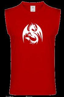 DRACHE Muskel Shirt mit Drachenmotiv Achselshirt 10 751