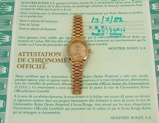 Rolex Oyster Perpetual Lady Datejust 750/Gelbgold mit Papiere von 1982